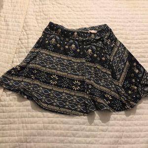 Size small designed skater skirt